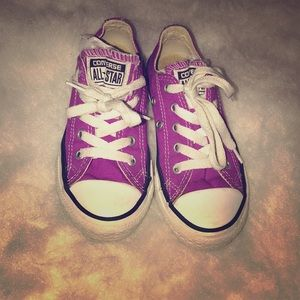 Violet converse size 11. Gently used
